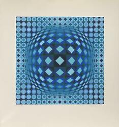 Victor Vasarely Kezdi Ga Screenprint Signed And Numbered In Pencil