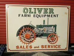 Oliver Farm Equipment Sales And Service Metal Sign 1/16
