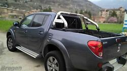 To Fit 05-15 Mitsubishi L200 Rollbar + Light + Short Curved Bed Tonneau Cover