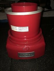 Cuisinart Ice-21p1 1.5-quart Ice Cream And Sorbet Maker -red — With Extra Bowl