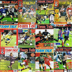 Team Talk Non League Football Magazine Contents Index Shown - Various Issues