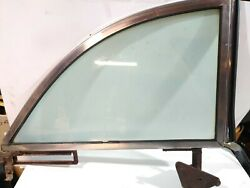 Oem 1955 1956 Ford Convertible Rear Side Glass With Trim Rh