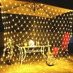3m Mesh Led Net Fairy String Curtain Lights Party Xmas Decor Outdoor Lights Eu
