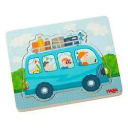 Haba Wooden Doll Driving Pleasure Children's Jigsaw Puzzle 3d Layer Ab 12 Months