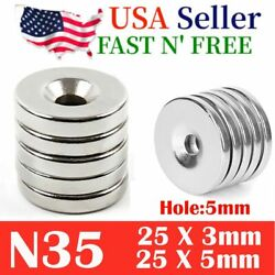Us N35 Countersunk Ring Round Disc Strong Magnets Rare Earth Neodymium Hole