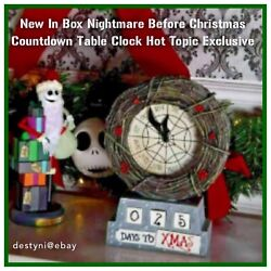 Nib The Nightmare Before Christmas Nbc Countdown Table Clock Hot Topic Exclusive