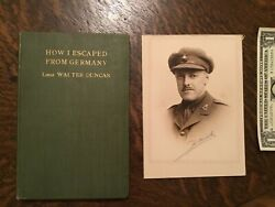How I Escaped From Germany Wwi 1918 Influenza Victim Book And Photo Walter Duncan