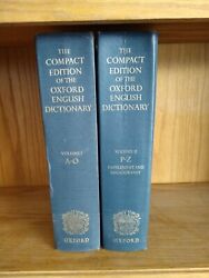 The Compact Edition Of The Oxford English Dictionary Two Volumes Hardcovers 1971