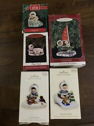Hallmark Ornament Lot Of 5 Frosty Friends 1990 1996 1997 2007 And 2008