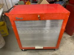 Vintage Snap On Toolbox Tool Box Cabinet Chest Kra-300b Rolla Bench 1963 Keys