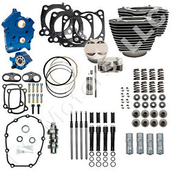 Sands Cycle 124 Engine Kit For 2017+ Milwaukee-eight M8 107 Motor - Chain Drive