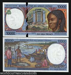 Central African States Chad 10000 10000 Francs P-605 P 1998 Ship Unc Cas Note