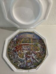 Golden Moments Bill Bell Mcdonalds Plate The Franklin Mint With Certificate Box