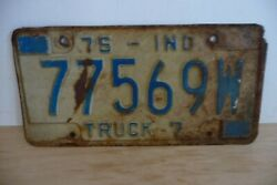 Plaque Immatriculation Usa Indiana 1975 License Plate Old Americaine Truck 7