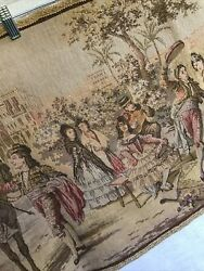 Vintage Tapestry Flamenco Dancing Spain Hand Made In Belgium 20quot;x56quot; Good Cond