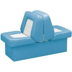 Back To Back Boat Seat Light Blue And White Premium Lounge Boating Seats