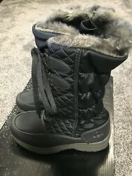 Totes Women#x27;s Waterproof Winter Boots 8 M Corina Pewter NEW $18.99