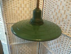 Vintage, Extremely Rare, 1920's Westinghouse Stepped, Green Porcelain Lamp Shade