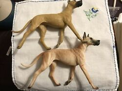 Breyer Companion Animal 2 Fawn GREAT DANE Dogs retired color variation