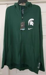 Nike Elite Ncaa Michigan State Spartans Full Zip Hooded Track Jacket Size Xl Nwt