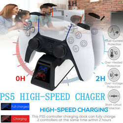 Us Ps5 Dualsense Controller Charging Dock Station Dual Charger Usb Made For Ps5