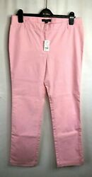 Nwt Women's Brooks Brothers Milano Fit Chinos Pants Sz 10 Rose Color