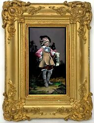 Thandeacuteophile Soyer Antique French Enamel Plaque Musketeer 1853-1940