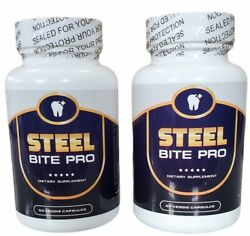 Two Pack Steel Bite Pro 1 Teeth And Gums Oral Health Strengthen Pain Sensitive