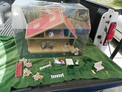 Rare Vintage Sylvanian Families Store Display House,figures And Accessories Estate