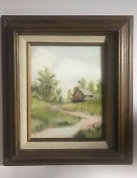 Original Acrylic Painting Of Country House By Charlotte Schmidt