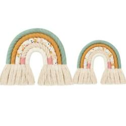 Nordic Hand woven Rainbow Tapestry Children Room Wall Hanging Decorations Decor