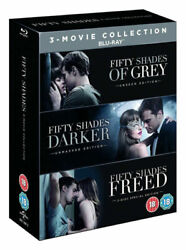 Fifty Shades Of Grey Trilogy Blu-ray Box Set Complete 1-3 Movie Film Collection