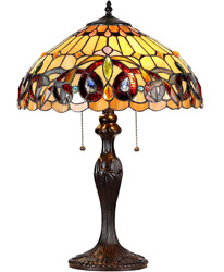 Style Lamp Serenity Victorian 2-light Stained Glass Table Accent Reading