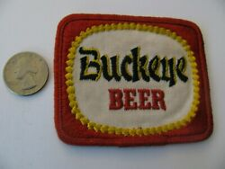 Vintage Buckeye Beer Embroidered Patch Toledo Ohio Oh Nos New Stock Reduced