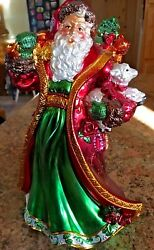 """New Christmas House Of Lloyd Shimmering Musical Santa Approx 11"""" Tall"""