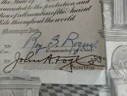 Roy Rogers Signed Autographed Mason Scottish Rite Artifact 33rd Degree Rare Wow