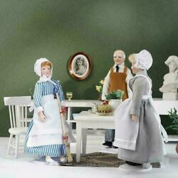 112 Dollhouse Mini Inch Scale Ceramic Figure Doll Z9v8 Maid Store Chef I3e8