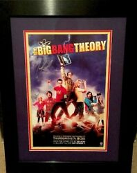 Big Bang Theory Cast Signed 2012 Sdcc Poster Framed Cuoco Galecki Helberg Rauch