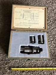 Gen 1952-1 Aircraft Tool Micro Stop Assy Threaded Shank Tapered Reamer W/case G7