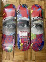 Paul Insect I See Skateboard Deck Set Limited Edition Signed Coa Ready To Ship