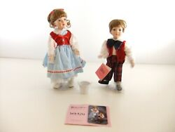 Jack And Jill Wind Up Musical Porcelain Dolls Paradise Galleries Limited Edition