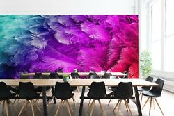 3d Red Feather Zhua1983 Wallpaper Wall Murals Removable Self-adhesive Zoe