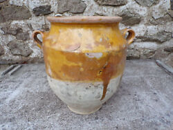 Antique 19 Th C. French Pottery Confit Pot 8 Inches Duck