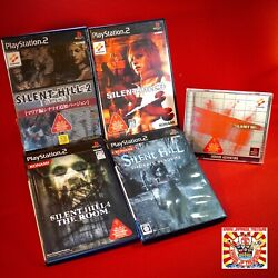 Lot 5 Set Sony Play Station Ps1 Silent Hill 1 2 3 4 Last Room Ps2 Playstation