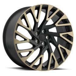 22x10 Redbourne Westminster Black W/machined And Tint Wheels 5x120 37mm Set Of 4