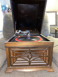 Antique Cecilian Wind-up Record Player