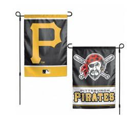 Mlb Pittsburgh Pirates 12x18 Double Sided Design 2 Sided Garden Flag Ncaa