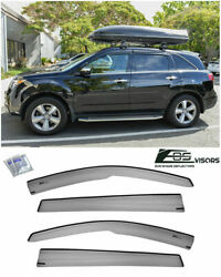 Eos Mugen Style Side Window Visors Rain Deflectors For Acura Mdx 07-13 Smoke