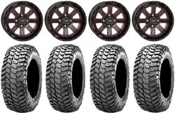 System 3 St-4 14 Wheels Red 30 Liberty Tires Yamaha Grizzly Rhino