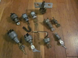 Vtg Starter Ignition Key Switch Lock Lot Briggs And Stratton Ford Tractor Harley